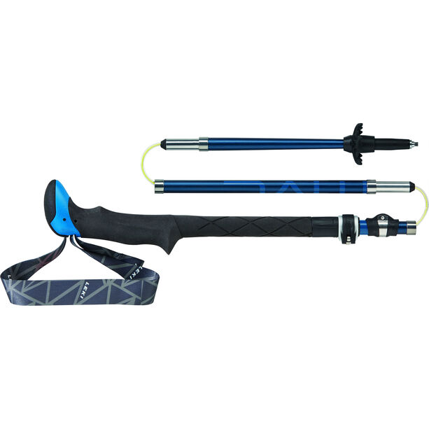LEKI Micro Vario Carbon Trekking Stöcke Faltbar dunkelblau-weiß-blau-neonrot