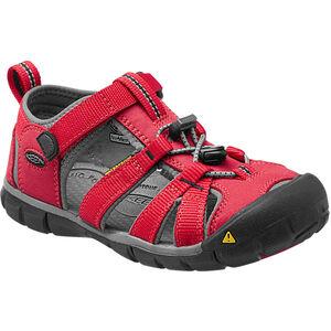 Keen Seacamp II CNX Sandals Kinder racing red/gargoyle racing red/gargoyle