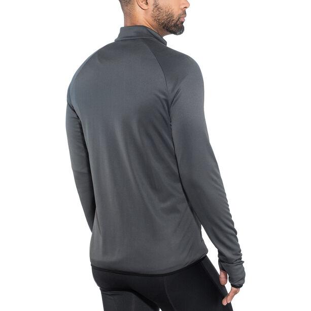 Odlo FLI Full-Zip Midlayer Herren black-odlo graphite grey-stripes