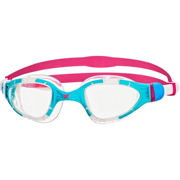 Zoggs Aqua Flex Goggles blue/pink/clear