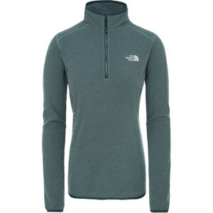 The North Face 100 Glacier 1/4 Zip Damen ponderosa green/trellis green stripe ponderosa green/trellis green stripe