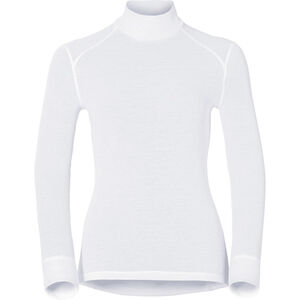 Odlo Active Warm Bl L/S Top Turtle Neck Women white white