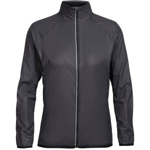 Icebreaker Rush Windbreaker Jacket Damen black/embossed black/embossed