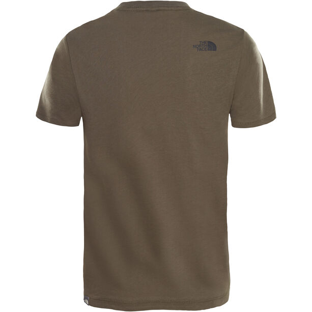 The North Face Easy SS Tee Kinder new taupe green desert youth printt