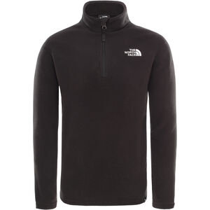 The North Face Glacier 1/4 Zip Kinder tnf black/tnf white tnf black/tnf white