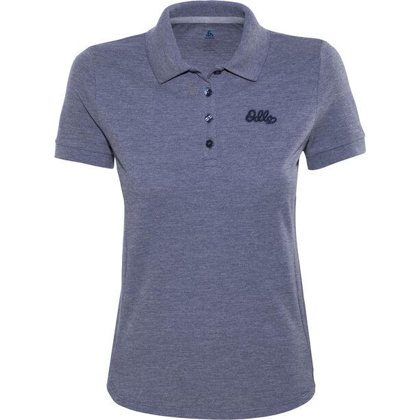 Odlo Trim Polo Shirt SS Damen peacoat melange