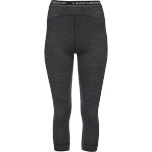 Black Diamond Solution 150 Merino Baselayer 3/4 Hose Damen black black