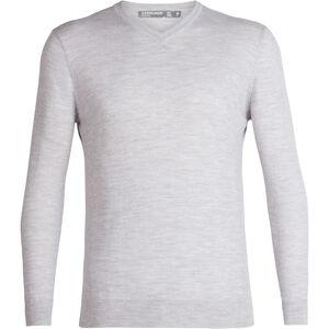 Icebreaker Shearer V-Ausschnitt Sweater Herren steel heather steel heather