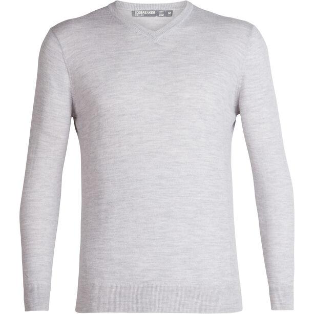 Icebreaker Shearer V-Ausschnitt Sweater Herren steel heather