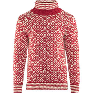 Devold Svalbard High Neck Sweater Herren hindberry/offwhite hindberry/offwhite
