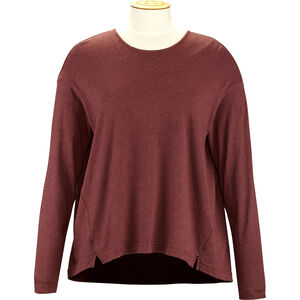 Alchemy Equipment Long Sleeve Pleated Relaxed Top Damen wine wine
