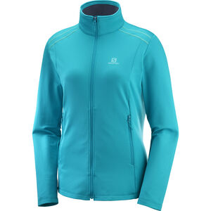 Salomon Discovery LT FZ Jacket Damen tile blue tile blue