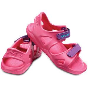 Crocs Swiftwater River Sandals Kinder paradise pink/amethyst paradise pink/amethyst