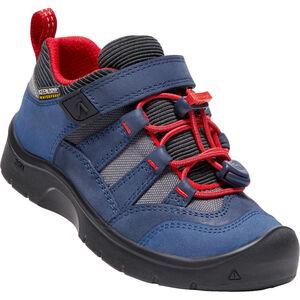 Keen Hikeport WP Shoes Kinder dress blues/firey red dress blues/firey red
