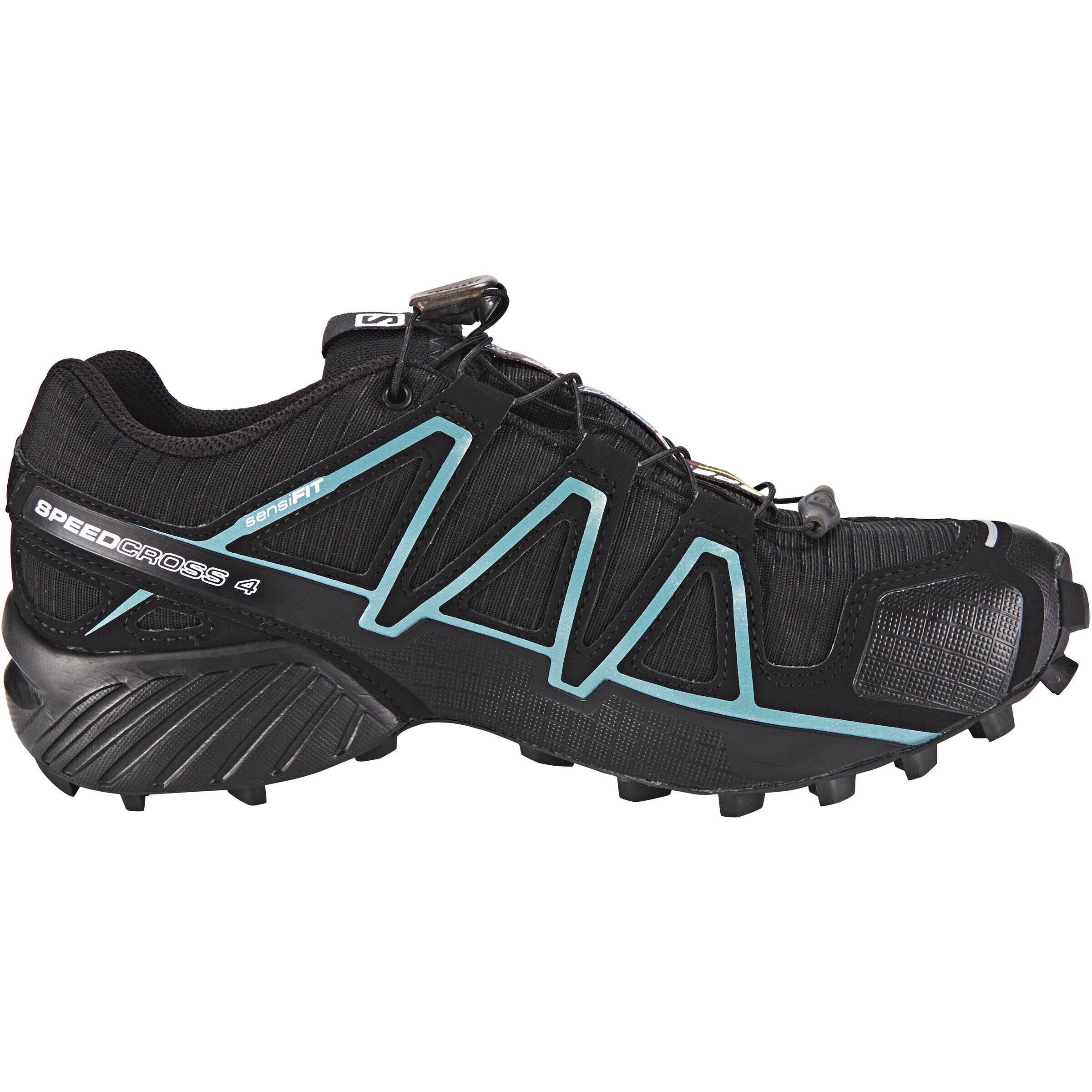 Salomon Speedcross 4 GTX Schuhe Damen blackblackmetallic bubble blue