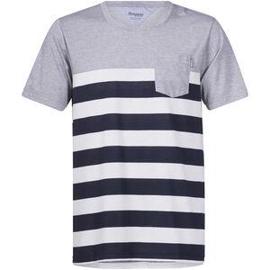 Bergans Lyngør Tee Herren white/navy striped/grey melange white/navy striped/grey melange