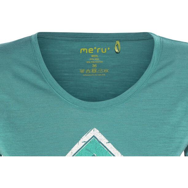 Meru Enköping Wool SS Shirt Damen turkish tile