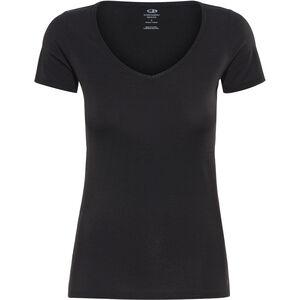 Icebreaker Siren SS Herzausschnitt Shirt Damen black black