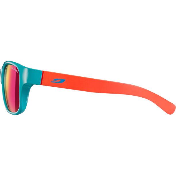 Julbo Turn Spectron 3CF Sunglasses 4-8Y Kinder shiny turquoise/matt coral-multilayer pink