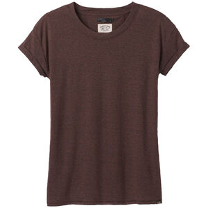 Prana Cozy Up T-Shirt Damen cocoa heather cocoa heather