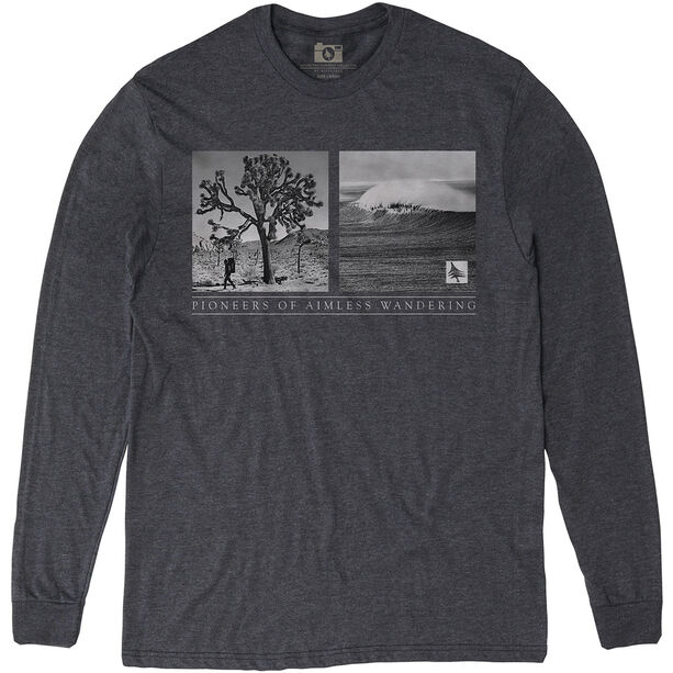 Hippy Tree Wanderer Langarmshirt Herren heather charcoal