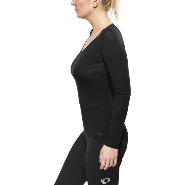 Icebreaker Siren LS Herzausschnitt Shirt Damen black