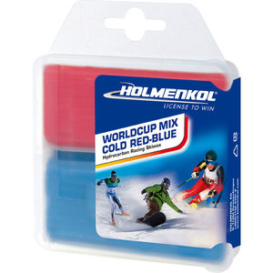 Holmenkol Worldcup Mix Cold Basis Wachs 2x35g red-blue red-blue