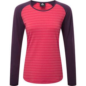 Mountain Equipment Redline LS Tee Damen virtual pink stripe/blackberry virtual pink stripe/blackberry
