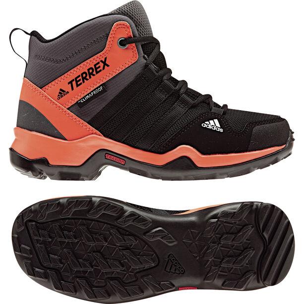 adidas TERREX AX2R ClimaProof Outdoor Mid-Shoes Kinder core black/core black/hi-res orange