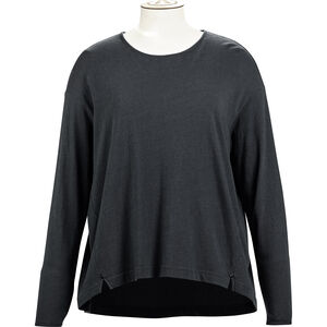 Alchemy Equipment Long Sleeve Pleated Relaxed Top Damen graphite graphite