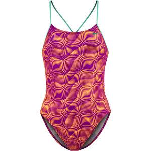 Nike Swim Wave Cut-Out Tank Swimsuit Mädchen vivid purple vivid purple