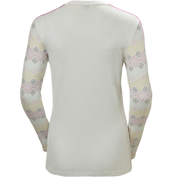 Helly Hansen Lifa Active Graphic Crew Shirt Damen white dotted print