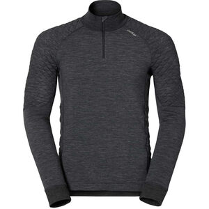 Odlo Natural Suw L/S Top Turtle Neck Zip 1/2 Men black melange black melange