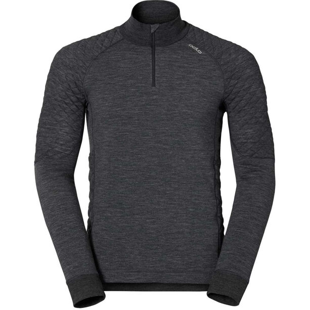 Odlo Natural Suw L/S Top Turtle Neck Zip 1/2 Men black melange