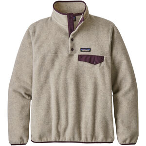 Patagonia Lightweight Synchilla Snap-T Pullover Damen oatmeal heather/deep plum oatmeal heather/deep plum