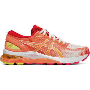 asics Gel-Nimbus 21 Shoes Damen white/sun coral white/sun coral