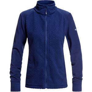 Roxy Surface Through Zip Jacke Damen medieval blue losange jacquard medieval blue losange jacquard