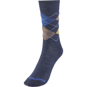 Smartwool Diamond Jim Crew Socks Herren deep navy heather-desert sand heather deep navy heather-desert sand heather