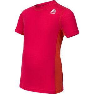 Aclima Lightwool T-Shirt Kinder raspberry/poinciana raspberry/poinciana