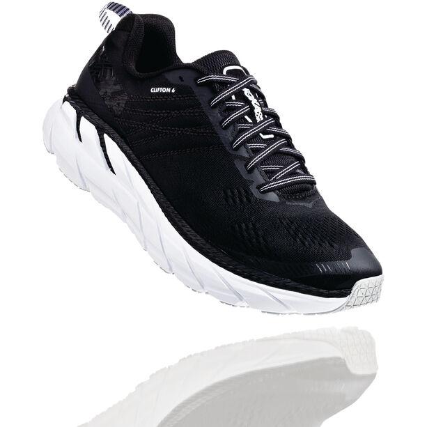 Hoka One One Clifton 6 Wide Schuhe Herren black/white