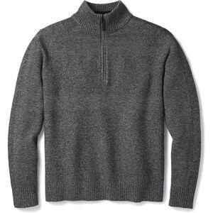 Smartwool Ripple Ridge Half-Zip Sweater Herren light gray heather-charcoal heather light gray heather-charcoal heather