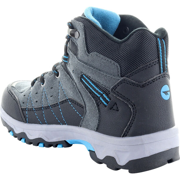 Hi-Tec Shield WP Shoes Kinder dark grey/black/lake blue