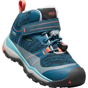 Keen Terradora WP Mid Shoes Kinder aqua sea/coral aqua sea/coral