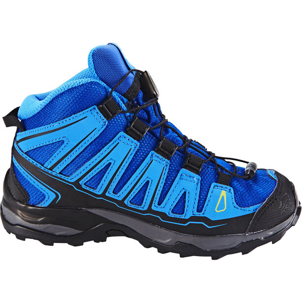 Salomon X-Ultra Mid GTX Schuhe Kinder blue yonder/bright blue/granny green