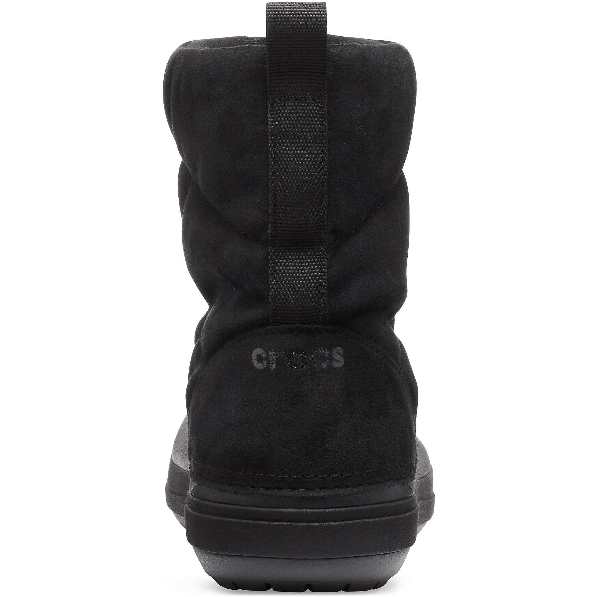 Puff Crocband Damen Black Stiefel Crocs DIWE9H2