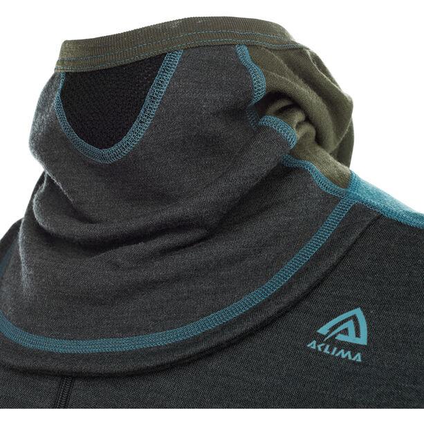 Aclima Warmwool Hood Sweater mit Zip Herren tapestry/marengo/olive night