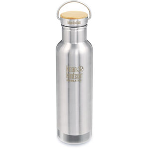 Klean Kanteen Reflect Vacuum Insulated Bottle Bamboo Cap 592ml brushed stainless brushed stainless