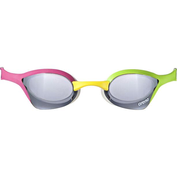 Arena Cobra Ultra Mirror Goggles Silver Green Pink Campz De