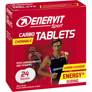 Enervit Sport Chewable Carbo Tablets 24x4g Lemon