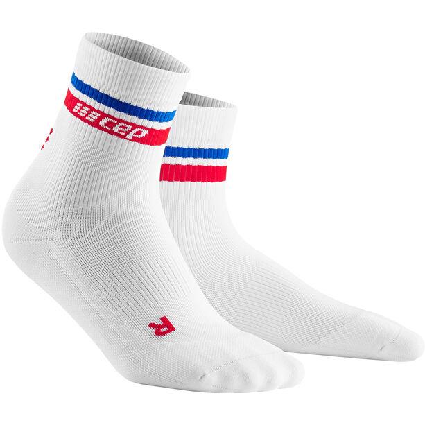 cep 80´s Compression Mid-Cut Socken Herren white/red/blue